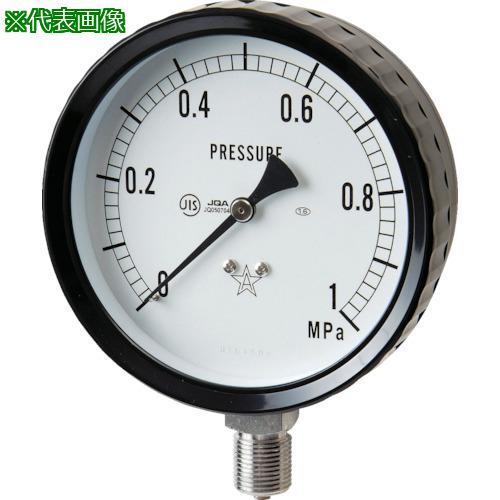 ■右下 ステンレス圧力計(A枠立型・Φ100) 圧力レンジ0~0.40MPA  G411-261-0.4MP 【3328163:0】