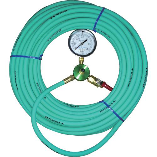 ■カンツール エアホース20m 圧力計付 HT-20-T (株)カンツール【3339114:0】