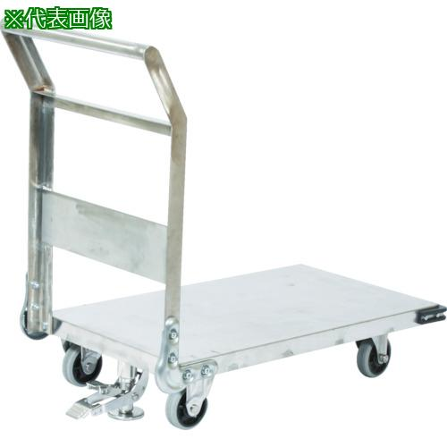 ?TRUSCO ステンレス鋼板製運搬車 固定式 1400X750 S付 〔品番:SHS-1LS〕直送元【3372847:0】【大型・重量物・個人宅配送不可】