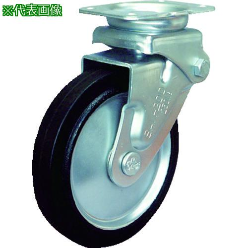 ■シシク 緩衝キャスター 固定 ゴム車輪 200径 SAK-HO-200W 【3535304:0】