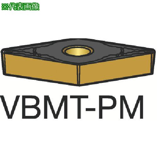 ■サンドビック コロターン107 旋削用ポジ・チップ 1515(10個) VBMT 【3584151×10:0】