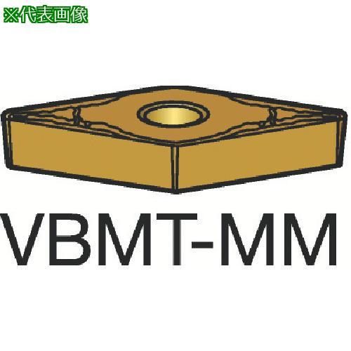 ■サンドビック コロターン107 旋削用ポジ・チップ 1125(10個) VBMT 【3584224×10:0】