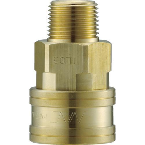 ■ナック クイックカップリング TL型 真鍮製 メネジ取付用 両路開放型  〔品番:CTL12SM2〕【3645550:0】