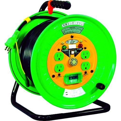 ■日動 金属センサードラム 100V アース漏電しゃ断器付 30M  KS-EB34 【3686175:0】