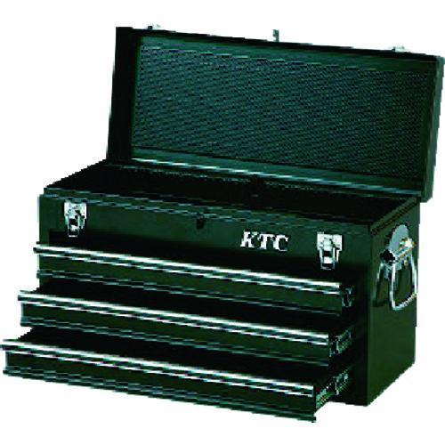■KTC チェスト(3段3引出し)ソリッドブラック SKX0213BK 京都機械工具(株)【3738183:0】
