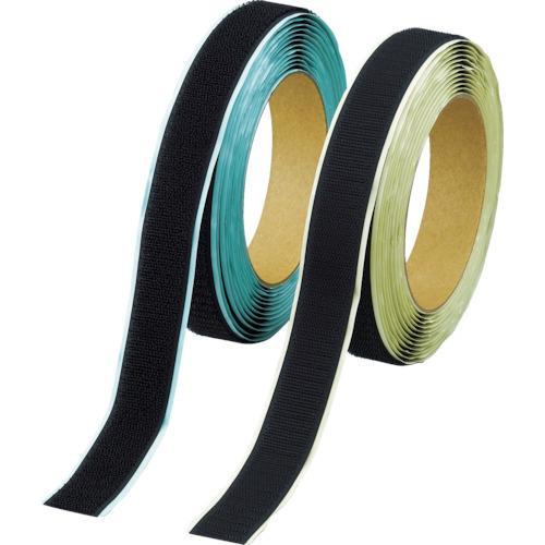 ■TRUSCO マジックテープ 弱粘着タイプ 100mmX5m 黒(1巻=1セット) TPD-1005MTS-BK トラスコ中山(株)【3897206:0】