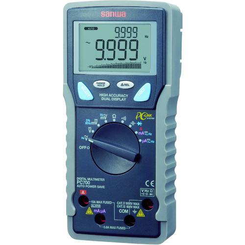 ■SANWA デジタルマルチメータ パソコン接続型  PC700 【3923886:0】