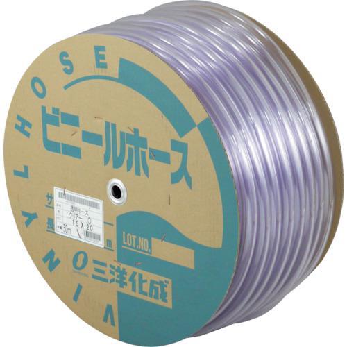 〔品番:TM-1520D50T〕【3974197:0】  透明ホース15×20 50Mドラム巻 ■サンヨー