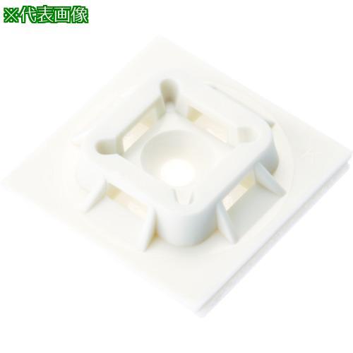 ■パンドウイット マウントベース ゴム系粘着テープ付き 白 (500個入) ABM100-A-D 【4036395:0】