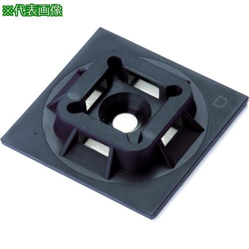 ■パンドウイット マウントベース ゴム系粘着テープ付き 黒 (500個入) ABM100-A-D20 【4036409:0】