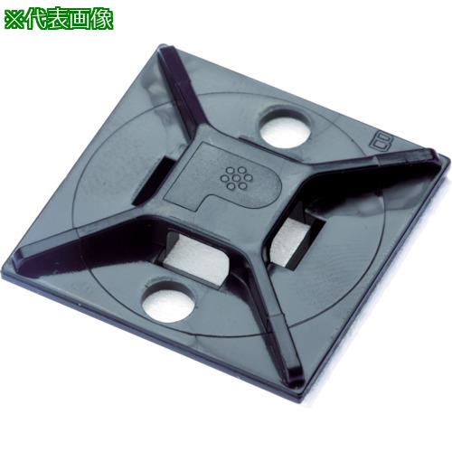 ■パンドウイット マウントベース ゴム系粘着テープ付き 黒 (500個入) ABM112-A-D20 【4036514:0】