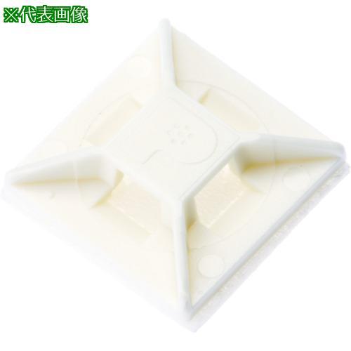 ■パンドウイット マウントベース アクリル系粘着テープ付き 白 (1000個入) ABM1M-AT-M 【4036611:0】
