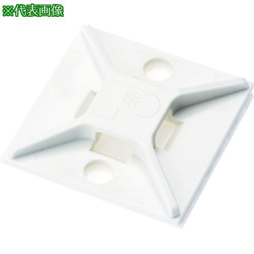 ■パンドウイット マウントベース アクリル系粘着テープ付き 白 (500個入) ABM2S-AT-D 【4036697:0】