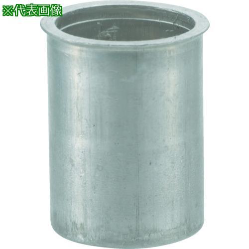 ■TRUSCO クリンプナット薄頭アルミ 板厚4.0 M6X1  (1000個入)  TBNF-6M40A-C 【4097173:0】