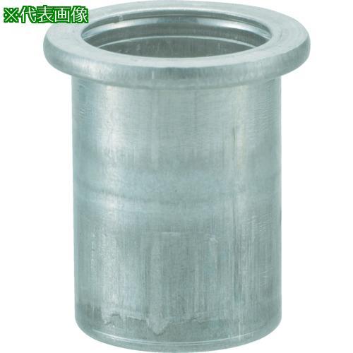 ■TRUSCO クリンプナット平頭アルミ 板厚2.5 M6X1.0  1000個入  TBN-6M25A-C 【4097360:0】