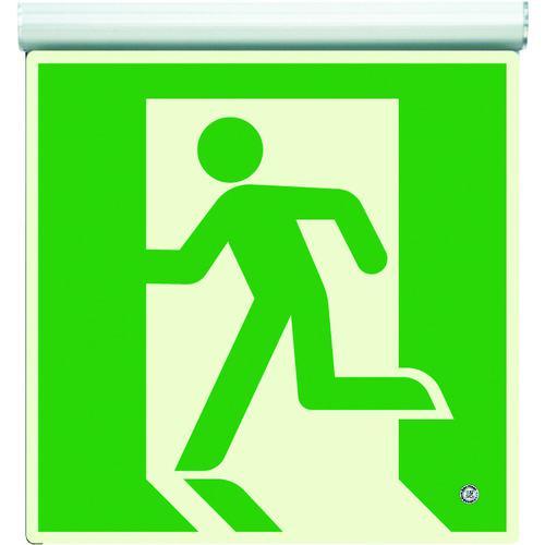 ■ユニット 高輝度蓄光標識 避難口天井用C200級 836-020 ユニット(株)【4126611:0】