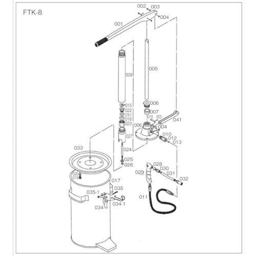 ■TRUSCO FTK8用 タンク FTK-017 トラスコ中山(株)【4148843:0】