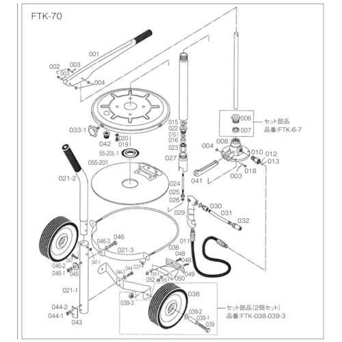 ■TRUSCO FTK70用 圧力板  FTK-055-20L 【4149351:0】