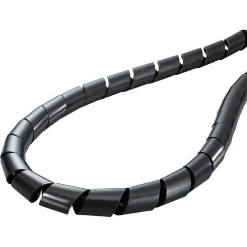 ■ヘラマンタイトン スパイラルチューブ (ポリエチレン製 耐候グレード) 黒 長さ25M  〔品番:TS-20-W〕【4337859:0】