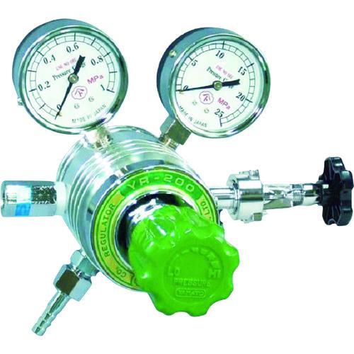 ■ヤマト フィン付圧力調整器 YR-200 ヨーク枠タイプ  YR-200-R-B-Y01HG03-CO2 【4346645:0】