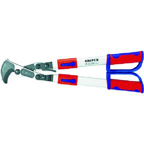 ■KNIPEX 伸縮式ケーブルカッター 570‐770mm 〔品番: 9532-038〕【4469666:0】