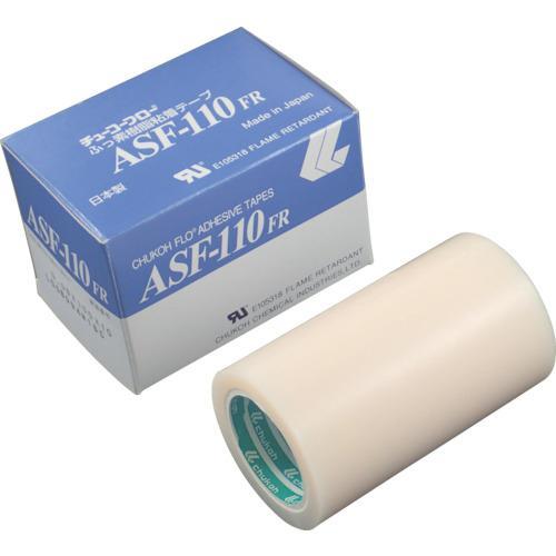 ■チューコーフロー フッ素樹脂(テフロンPTFE製)粘着テープ ASF110FR 0.13t×100w×10m ASF110FR-13X100 中興化成工業(株)【4494547:0】