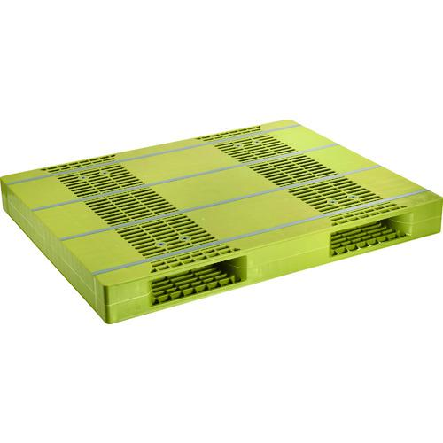 ■NPC プラスチックパレットZR-110140E 両面ニ方差し ライトグリーン  〔品番:ZR-110140E-LG〕直送元【4678826:0】【大型・重量物・個人宅配送不可】
