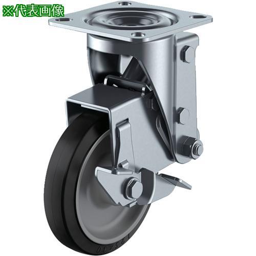 ■ユーエイ クッションキャスター 125径 自在車 ストッパー付 ゴム車輪  SHSKY-S125NRBDS-30 【4703979:0】