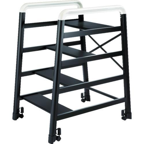 激安ブランド 【4728505:0】:ホームセンターバロー 店 ?ハセガワ アルミ製組立式踏台 DE型 4段 ブラック  DE2.0-4B -DIY・工具