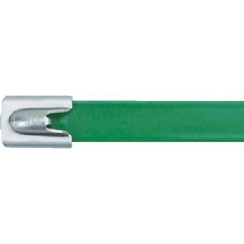■パンドウイット MLT フルコーティングステンレススチールバンド SUS316 緑 幅8.1mm 長さ201mm 50本入り MLTFC2H-LP316GR 【4774779:0】