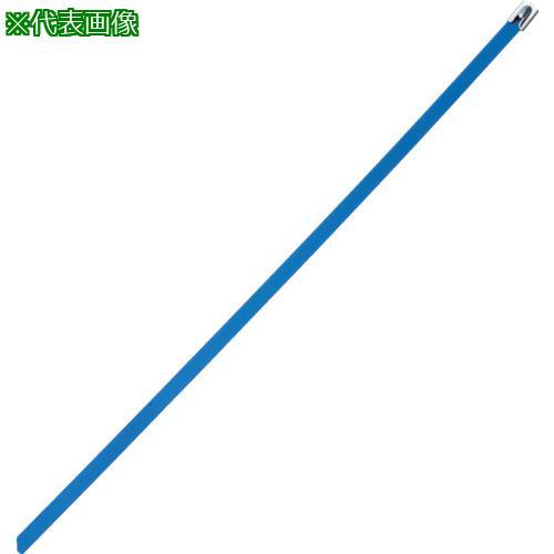 ■パンドウイット MLT フルコーティングステンレススチールバンド SUS316 青 幅8.1mm 長さ363mm 50本入り MLTFC4H-LP316BU 【4774833:0】