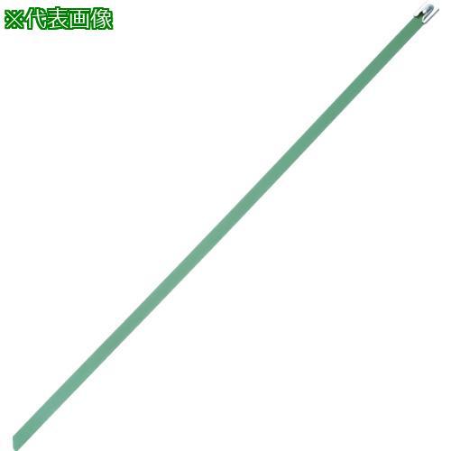 ■パンドウイット MLTタイプ フルコーティングステンレススチールバンド SUS316 緑 幅8.1mm 長さ521mm 50本入り MLTFC6H-LP316GR 【4774914:0】