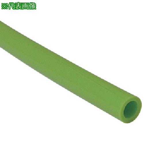 ■チヨダ TEタッチチューブ 10mm/100m ライトグリーン TE-10-100 千代田通商(株)【4808771:0】