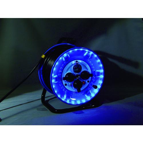 ■日動 防雨型電工ドラム LEDラインドラム 青  NPWL-EB33-B 【4866151:0】