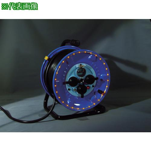 ■日動 防雨型電工ドラム LEDラインドラム 赤  NPWL-EB33-R 【4866185:0】