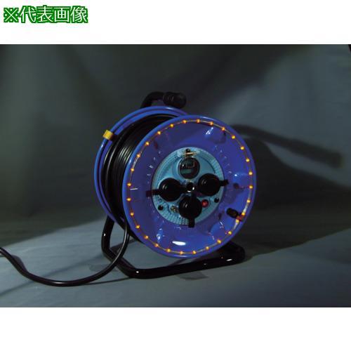 ■日動 防雨型電工ドラム LEDラインドラム 赤  NPWL-EK33-R 【4866223:0】