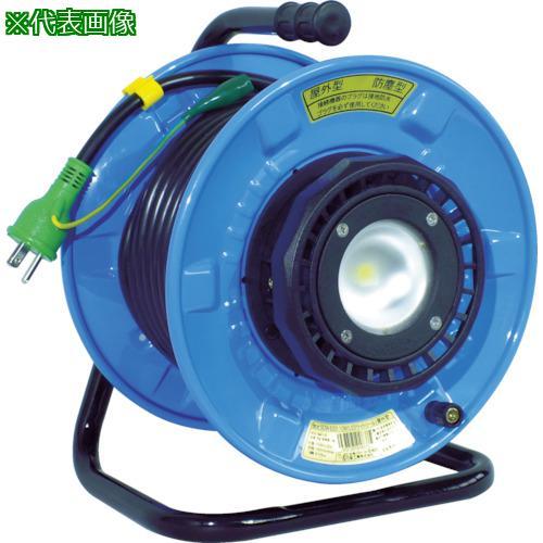 ■日動 防雨・防塵型LEDライトリール 漏電過負荷短絡保護兼用遮だん器付  SDW-EK22-10W 【4866258:0】