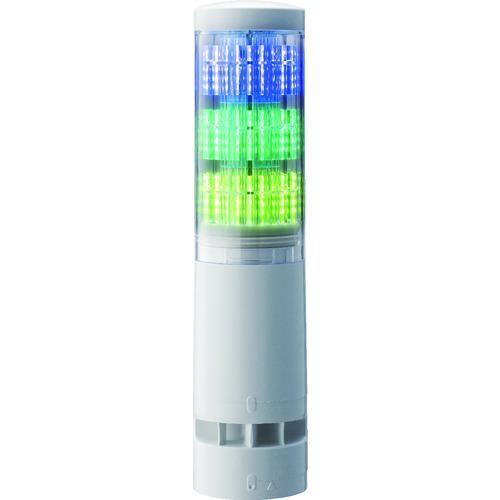 ■パトライト LA6型積層情報表示灯Φ60 直付け・端子台・ブザーあり  〔品番:LA63DTNWBRYG〕【4964683:0】