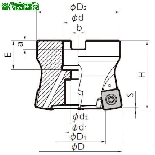 ■京セラ MFHフェースミル MFH050R-10-5T-M 京セラ(株)【6546641:0】