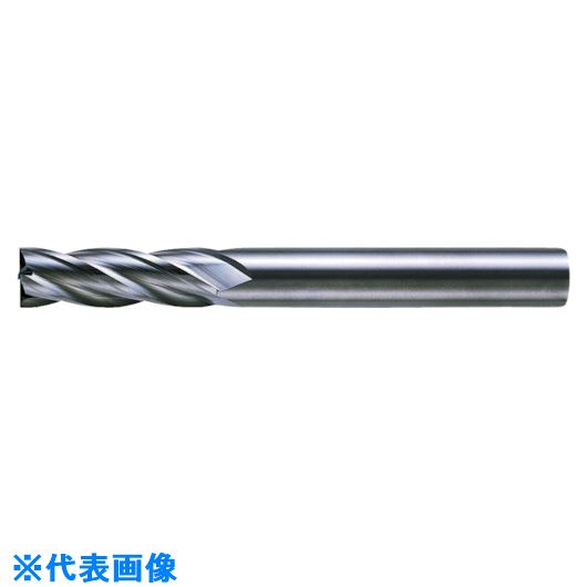 ■三菱K 4枚刃超硬センタカットエンドミル(セミロング刃長) ノンコート 10mm C4JCD1000 【6593208:0】