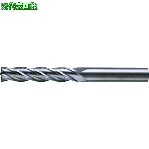 ■三菱K 4枚刃超硬センタカットエンドミル(ロング刃長) ノンコート 9mm C4LCD0900 【6593488:0】