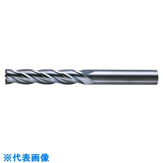 ■三菱K 4枚刃超硬センタカットエンドミル(ロング刃長) ノンコート 9.5mm C4LCD0950 【6593496:0】