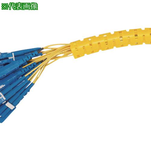 ■パンドウイット 電線保護チューブ スリット型スパイラル パンラップ 束線径12.0ΦMM 61M巻き 黄 PW50F-T4  〔品番:PW50F-T4〕【7315244:0】