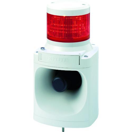■パトライト LED積層信号灯付き電子音報知器 色:赤  〔品番:LKEH-102FA-R〕【7514620:0】