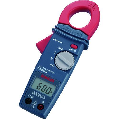 ■SANWA AC専用真の実効値対応デジタルクランプメ-タ  DCM60R 【7515111:0】