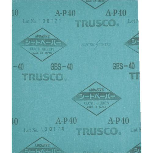 ■TRUSCO シートペーパー#40 1枚入   GBS-40-1P 【7548486:0】