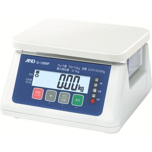 ■A&D 取引・証明用(検定済品)防塵・防水デジタルはかり SJ15KWP 【7565470:0】