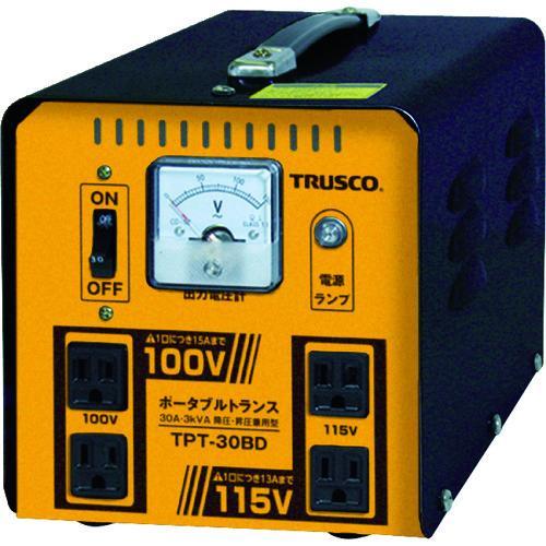 ■TRUSCO ポータブルトランス 30A 3kVA 降圧・昇圧兼用型 TPT-30BD トラスコ中山(株)【7644639:0】