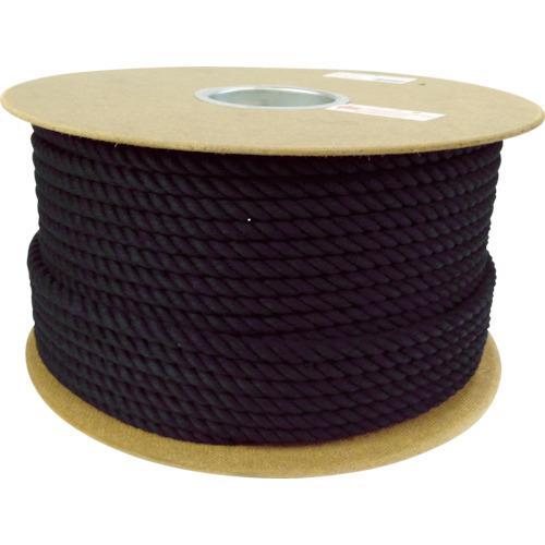 ■ユタカメイク ロープ 綿ロープドラム巻 9φ×100m ブラック PRC-51 (株)ユタカメイク【7684827:0】