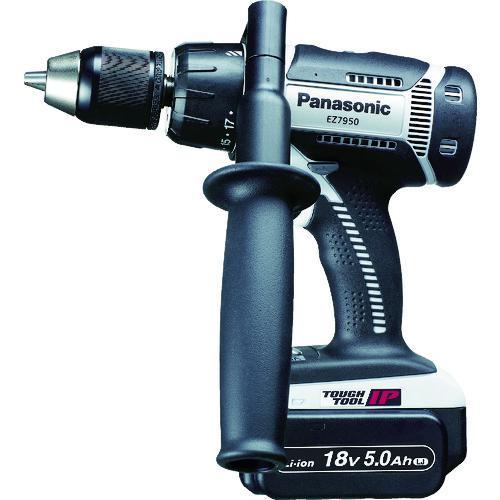 ■Panasonic 充電振動ドリル&ドライバー 18V 5.0Ah EZ7950LJ2S-H 【7765622:0】